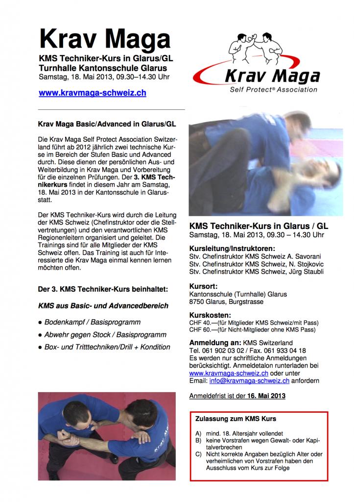 KMS-Techniker-Kurs Glarus 2013 Informationen